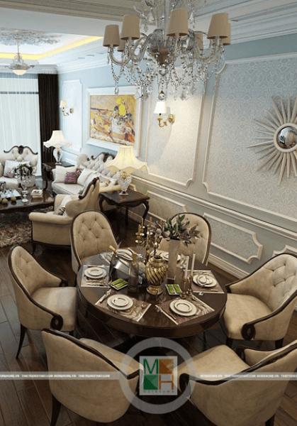 Thiết kế nội thất phong cách tân cổ điển chung cư RoyalCity
