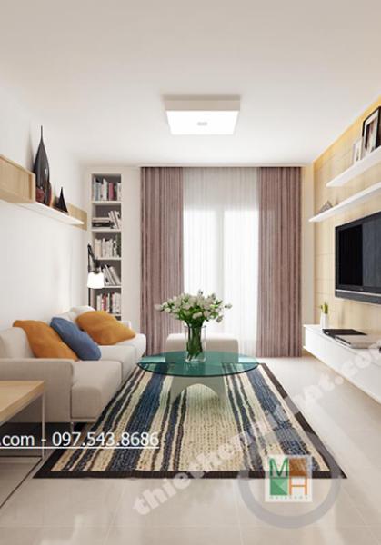 Thiết kế chung cư cao cấp, hiện đại Golden Palace căn hộ mẫu B3