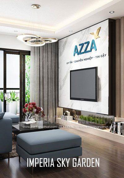 Thiết kế nội thất chung cư kết hợp văn phòng làm việc tại Imperia Sky Garden