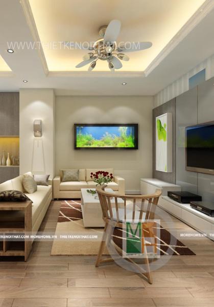Thiết kế chung cư Hapulico theo phong cách hiện đại - chị Thảo