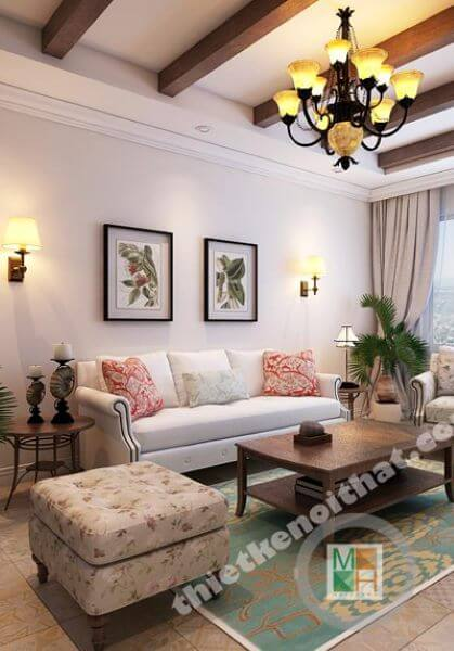 Thiết kế căn hộ chung cư tân cổ điển đẹp, sang trọng tại Hòa Bình Green - Nhà Anh Tuấn