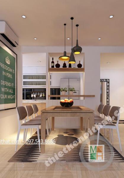 Thiết kế nội thất chung cư Mulberrylane - Nhà chị Mai tân cổ điển