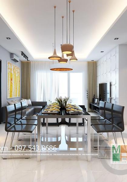 Thiết kế chung cư cao cấp Golden Palace căn 128m2 - Nhà Anh Chung