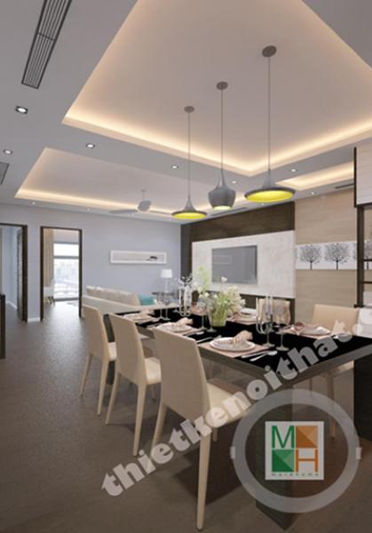 Thiết kế nội thất chung cư hiện đại R1 Royal City - Chú Thái