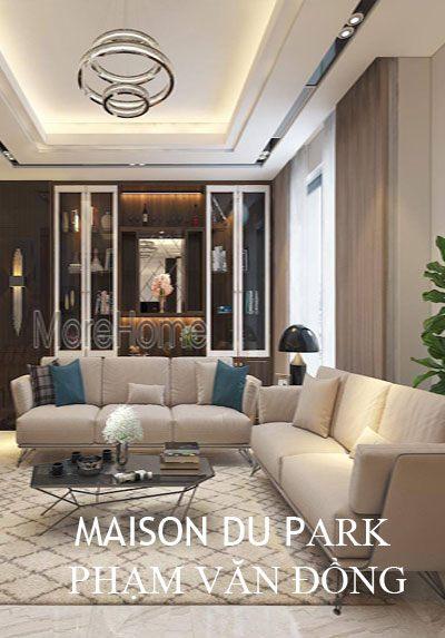 Thiết kế nội thất nhà lô phố Maison Du Park Phạm Văn Đồng sang trọng