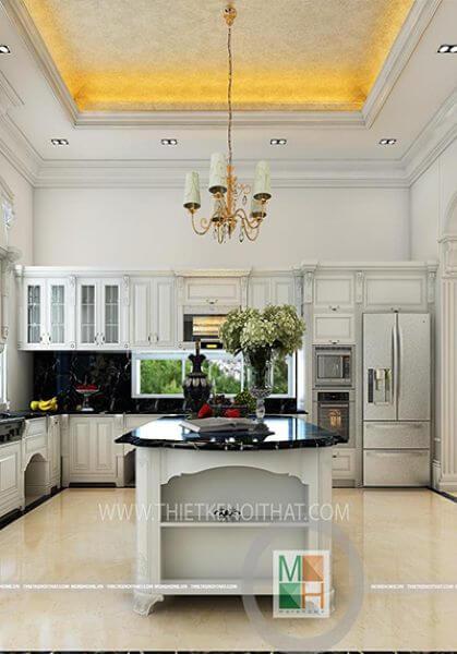 Thiết kế nội thất biệt thự tân cổ điển cao cấp, sang trọng - Anh Văn