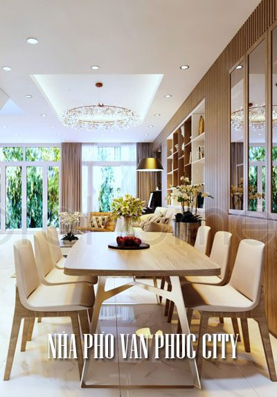 Thiết kế nội thất nhà phố Vạn Phúc city hiện đại, sang trọng