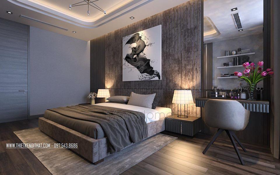 nội thất phòng ngủ biệt thự cao cấp Vinhomes Riverside The Harmony