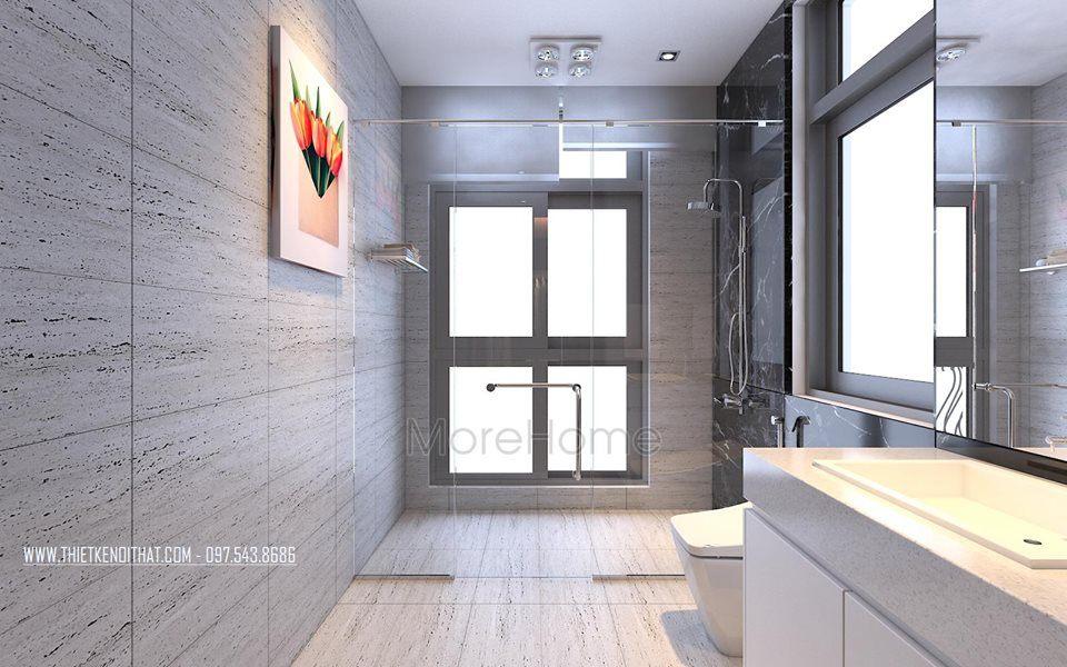 nội thất phòng tắm biệt thự cao cấp Vinhomes Riverside The Harmony