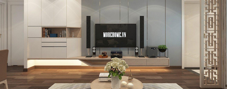 Thiết kế nội thất chung cưT&T RiverView 90m2 Hoàng Mai