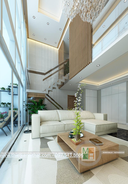 Thiết kế chung cư cao cấp căn hộ Duplex Mandarin Hòa Phát - Nhà Anh Việt C3602