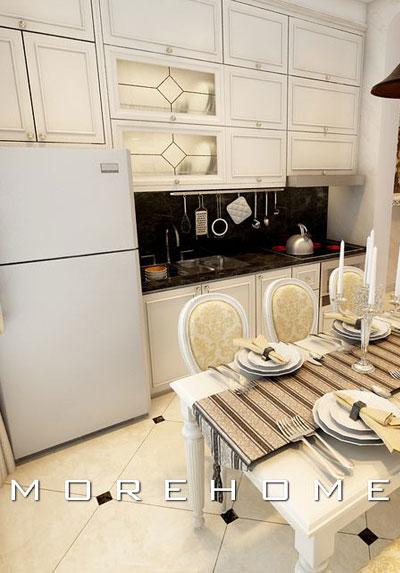 Mẫu thiết kế nội thất phòng bếp đẹp kèm bàn ăn bạn nên tham khảo