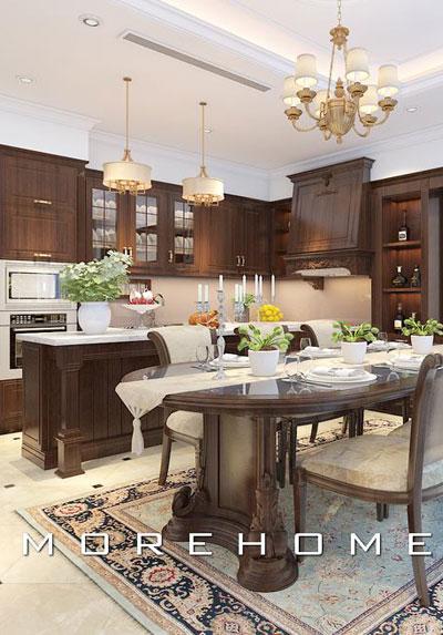 Bộ sưu tập các mẫu thiết kế phòng bếp biệt thự đẹp, sang trọng và tiện nghi