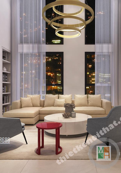 Thiết kế căn hộ Duplex tại chung cư Hà Đô - Chị Phương