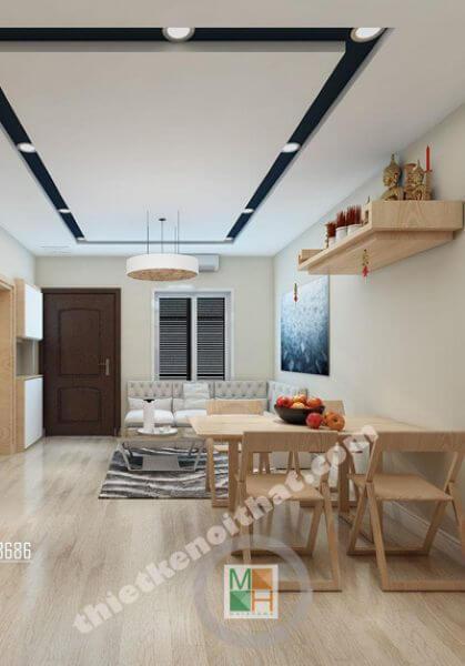 Thiết kế căn hộ chung cư Bà Triệu phong cách hiện đại