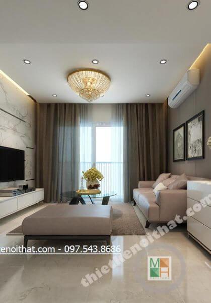 Thiết kế nội thất chung cư Hà Đô - Chị Thủy