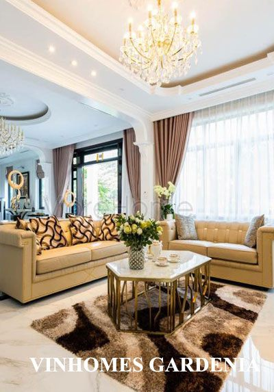 Thi công nội thất trọn gói biệt thự Vinhomes Gardenia cao cấp