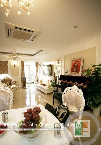 Thi công nội thất nhà chị Dương chung cư Sông Hồng Park, 165 Thái Hà