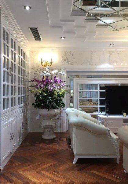 Thi công nội thất căn hộ tân cổ điển đẹp, sang trọng tại chung cư Hà Đô Hà Nội.