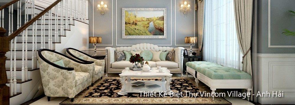 Thiết kế nội thất biệt thự VINHOME RIVERSIDE