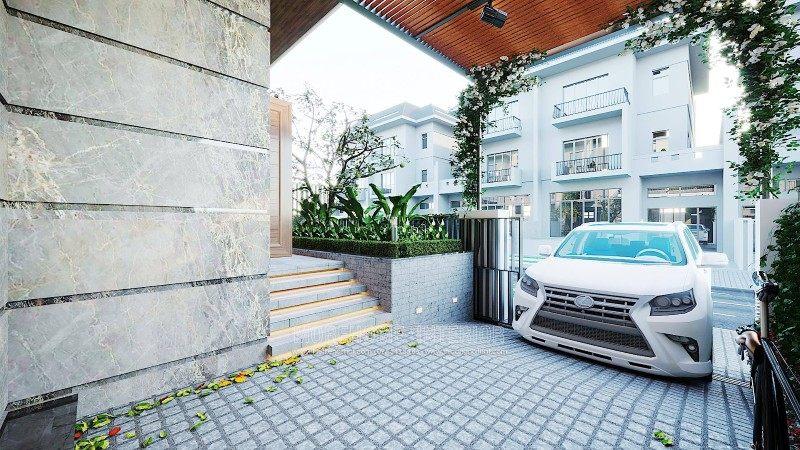 Thiết kế ngoại thất sân vườn biệt thự ciputra tây hồ hà nội