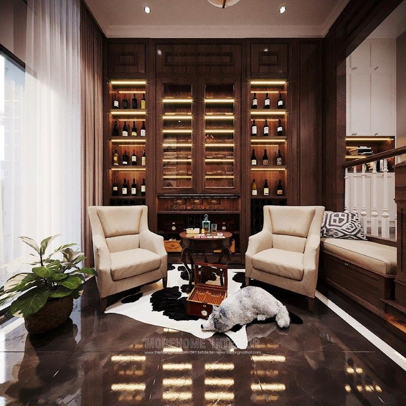 Thiết kế phòng rượu biệt thự ciputra tây hồ hà nội