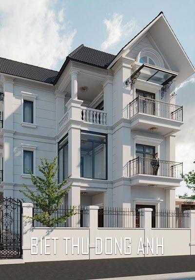 Thiết kế kiến trúc biệt thự, nội thất biệt thự Đông Anh Hà Nội