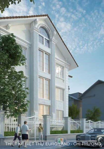 Thiết kế kiến trúc và nội thất biệt thự Euro Land tân cổ điển sang trọng