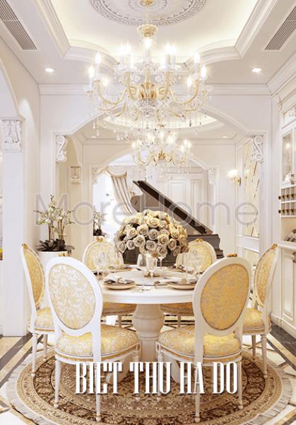 Thiết kế nội thất biệt thự Hà Đô phong cách tân cổ điển sang trọng.
