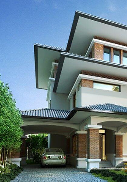 Thiết kế kiến trúc biệt thự mái thái hiện đại đẹp - Gia chủ: Chị Giang