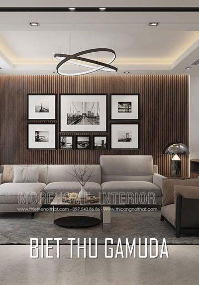 Thiết kế biệt thự liền kề Gamuda hiện đại với gỗ An Cường cao cấp