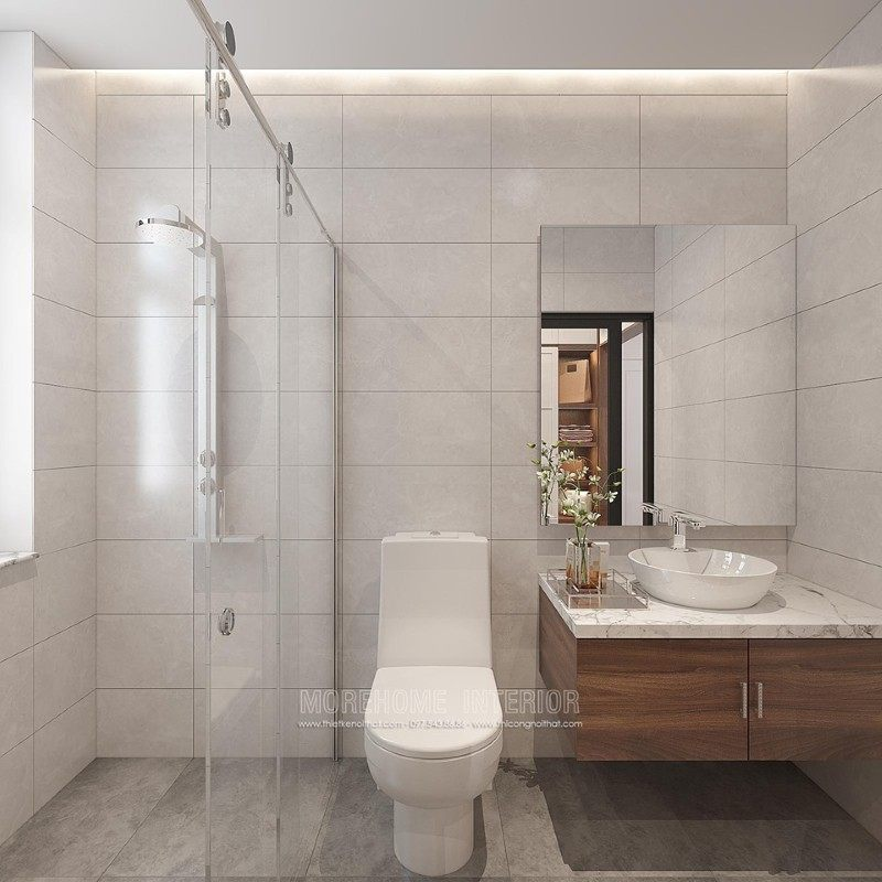 Thiết kế phòng tắm nhà vệ sinh cho biệt thự manhattan tại vinhomes imperia hải phòng