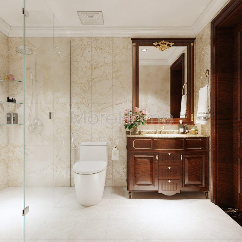 Thiết kế nội thất phòng vệ sinh cho biệt thự Phổ Quang Tân Bình