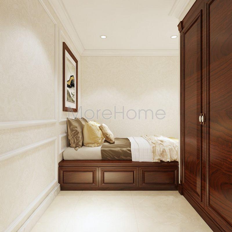 Thiết kế nội thất phòng ngủ biệt thự Phổ Quang Tân Bình