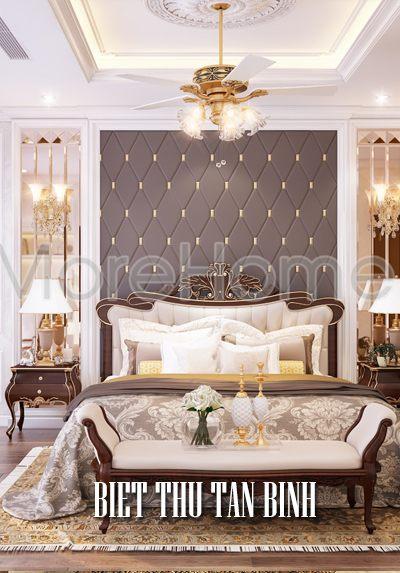 Thiết kế biệt thự tân cổ điển Tân Bình phong cách quý tộc sang trọng