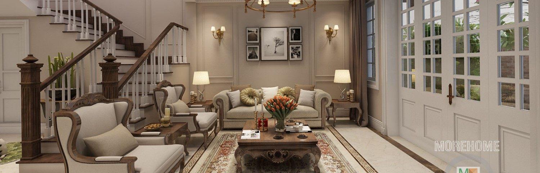 Thiết kế biệt thự cao cấp tại nghệ an phong cách tân cổ điển đẹp