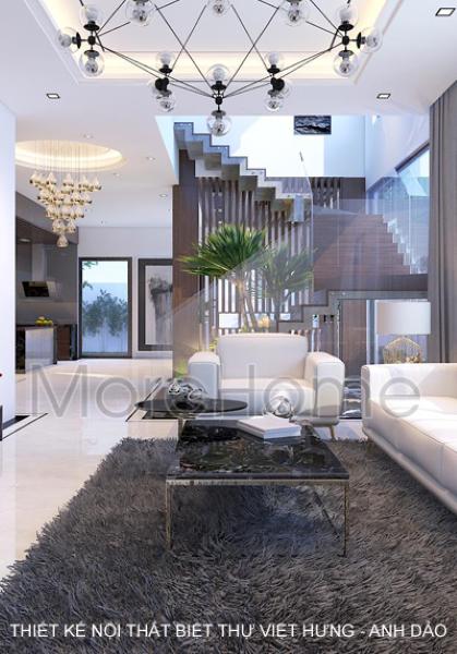 Thiết kế nội thất biệt thự Việt Hưng - Anh Dảo