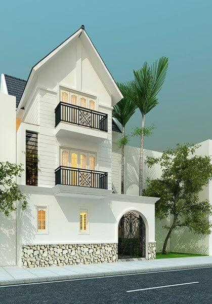 Thiết kế kiến trúc biệt thự Việt Hưng hiện đại, cao cấp - nhà Chị Việt
