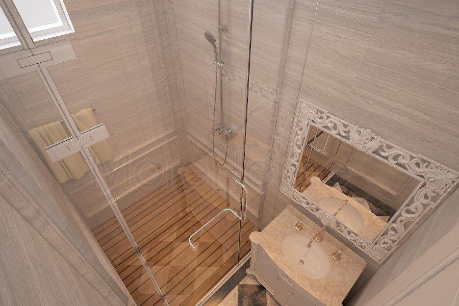 Thiết kế nội thất phòng tắm, nhà vệ sinh biệt thự Nha Trang tân cổ điển