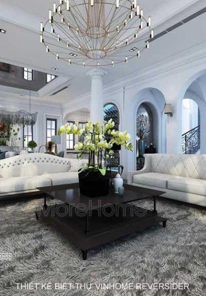 Thiết kế biệt thự Vinhomes RiverSide tân cổ điển cao cấp - Anh Thanh