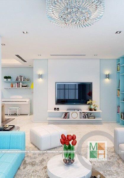 Thiết Kế nội thất Căn Hộ chung cư Nhà Chị Tài - Gò Vấp hiện đại, sang trọng