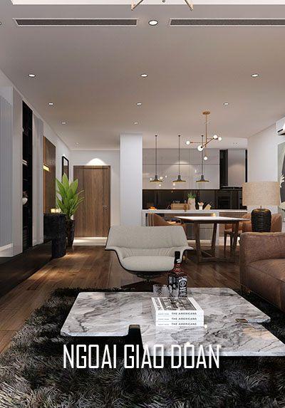 Thiết kế chung cư Ngoại Giao Đoàn phong cách hiện đại - Chị Lan