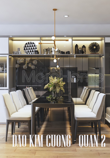 Thiết kế nội thất căn hộ chung cư Đảo Kim Cương - Quận 2 hiện đại