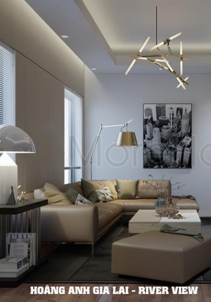 Thiết kế nội thất căn hộ Hoàng Anh Gia Lai River View phong cách hiện đại - Anh Cảng
