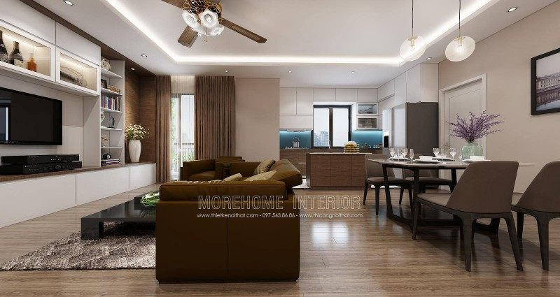 Thiết kế nội thất căn hộ mẫu imperia sky garden 423 minh khai hà nội