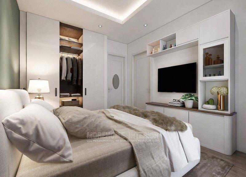 Thiết kế nội thất phòng ngủ căn hộ mẫu imperia sky garden 423 minh khai