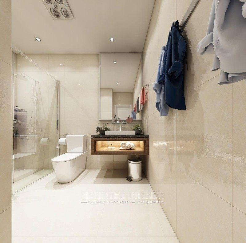 Thiết kế phòng tắm nhà vệ sinh căn hộ mẫu Imperia Sky Garden 423 Minh Khai