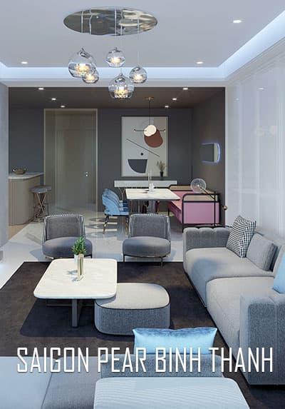 Thiết kế nội thất chung cư hiện đại Sài Gòn Pearl