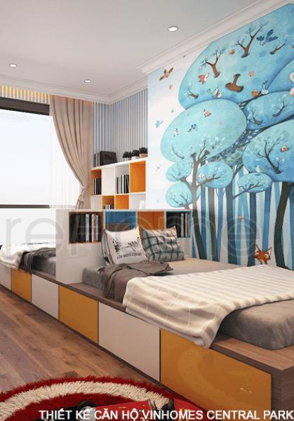 Thiết kế nội thất căn hộ chung cư Vinhomes Central Park - Anh Nguyên hiện đại