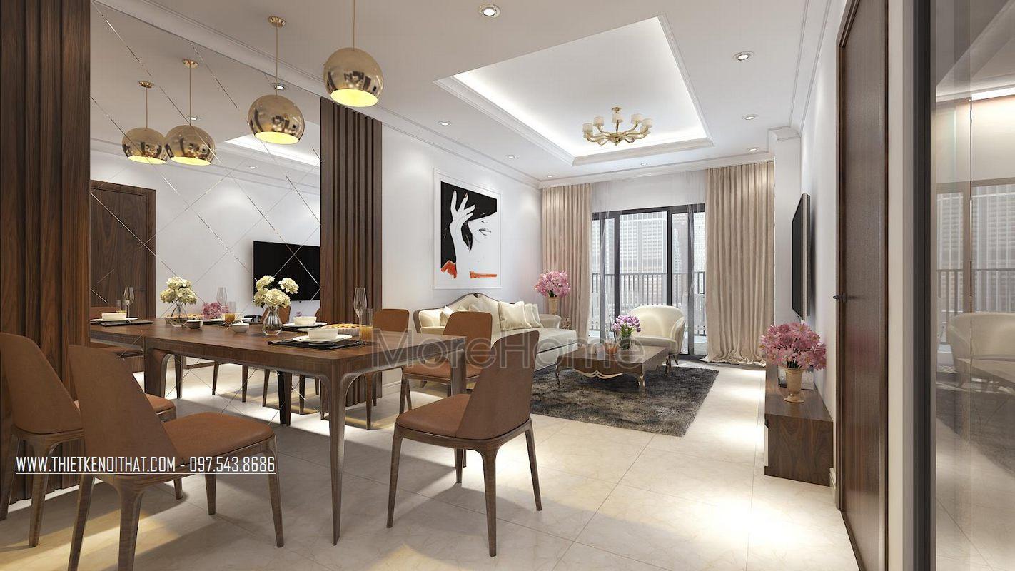 Thiết kế khu vực bàn ăn cho chung cư gamuda garden hoàng mai hà nội
